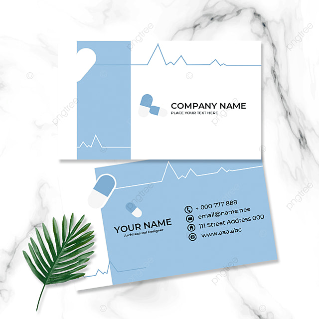 doctor and nurse double sided business card