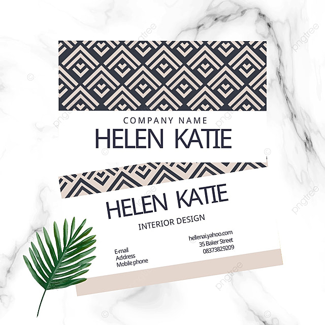 elegant geometric pattern business card