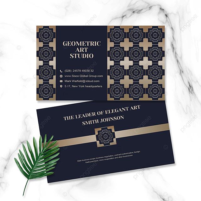 elegant shading business personal card