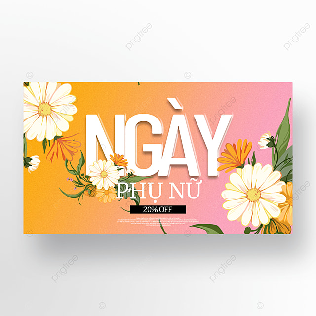 flowers womens day sale template
