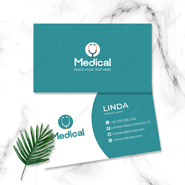 green simple medical industry doctor and nurse double sided business card