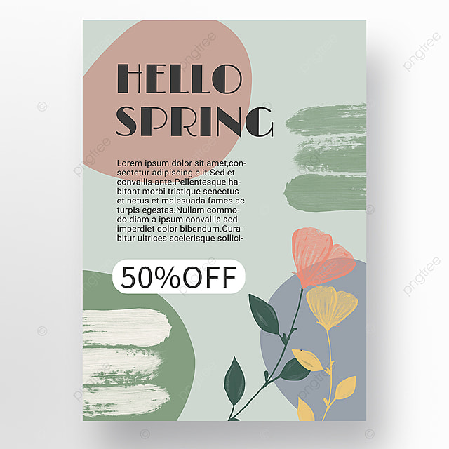green simple shape color block splicing spring promotion promotion template