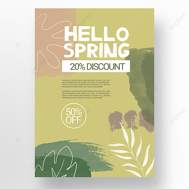 green spring promotion simple shape color block mosaic promotion template
