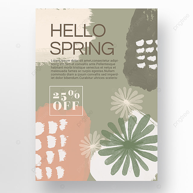 light color simple shape color block splicing spring promotion promotion template