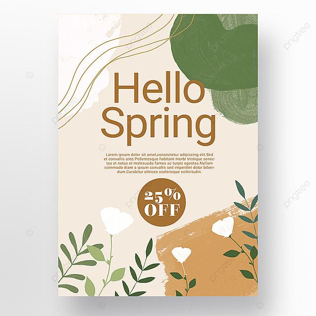orange green simple shape color block splicing spring promotion promotion template