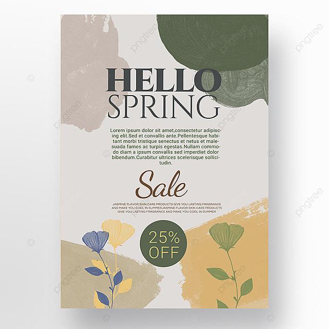 orange simple shape color block splicing spring promotion promotion template