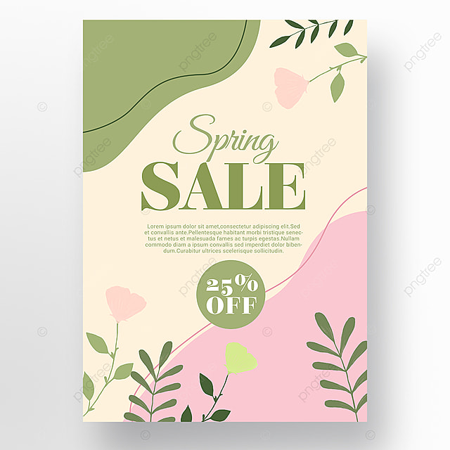 pink simple color block splicing spring promotion promotion template