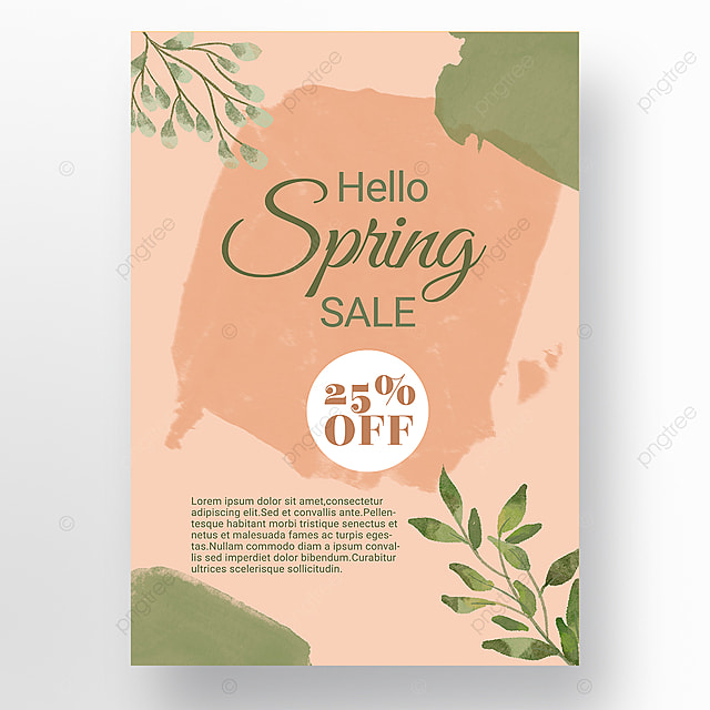 pink simple shape color block splicing spring promotion promotion template