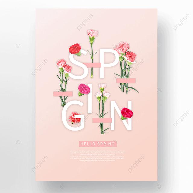 pink spring carnation poster