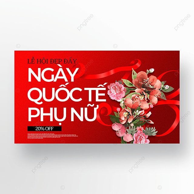 red creative womens day sale template