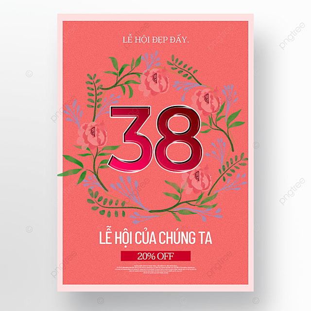 red womens day sale poster template