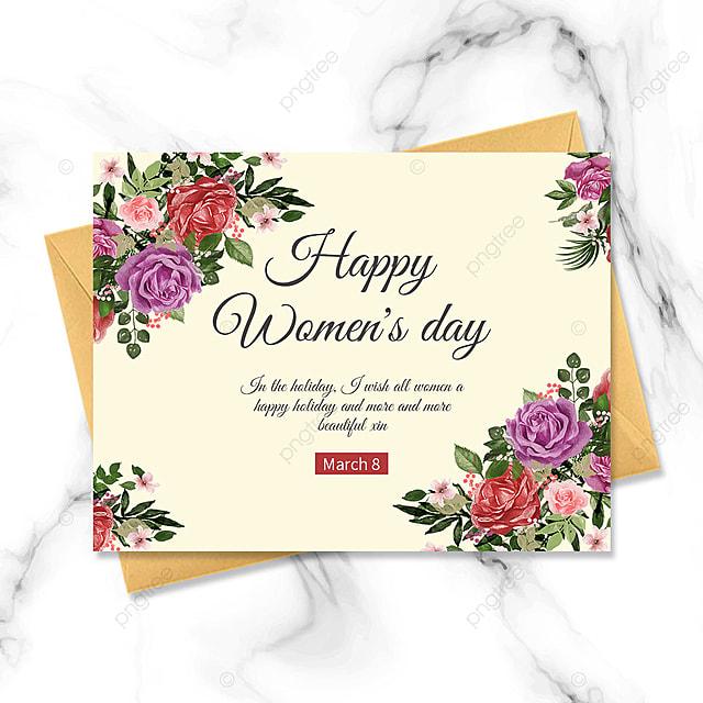 retro happy womens day template