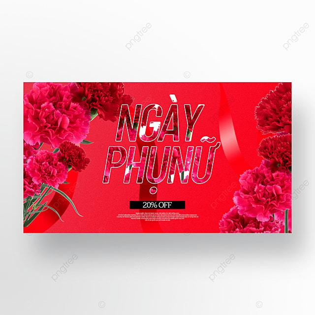 rose flower womens day sale template