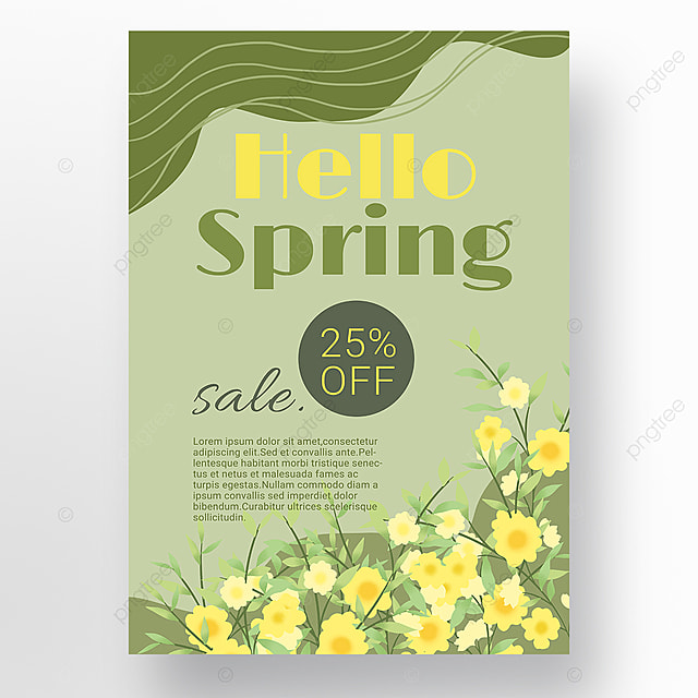 simple green fluid shape spring promotion promotion template