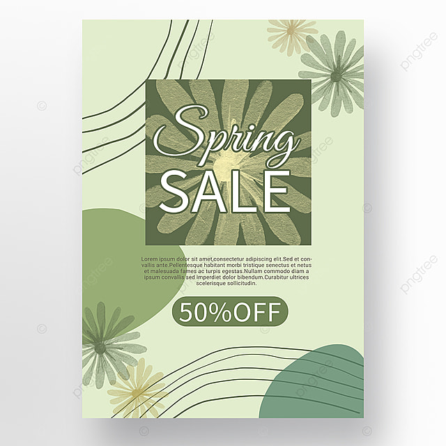 simple green shape color block splicing spring promotion promotion template