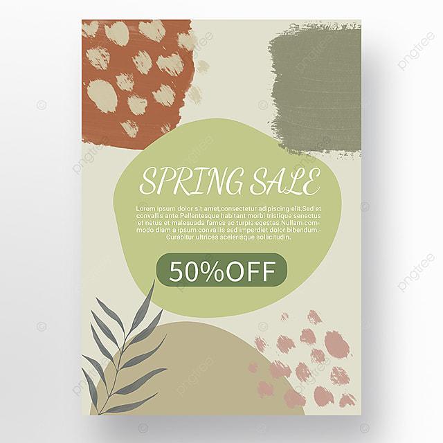 simple shape color block splicing spring promotion promotion template