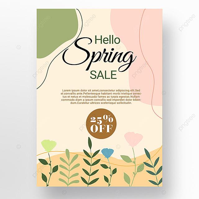 simple spring promotion shape color block mosaic promotion template