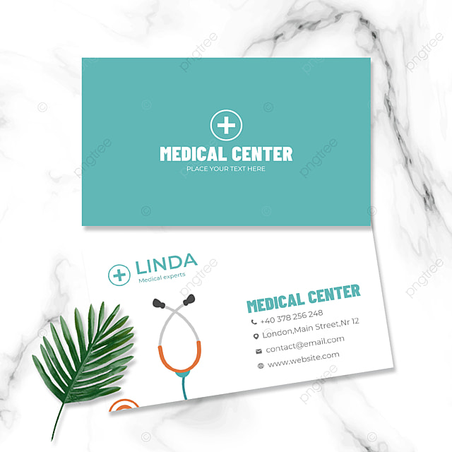 simple style double sided business card for medical industry