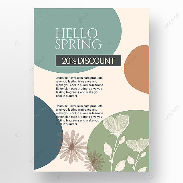 spring promotion shape color block mosaic promotion template
