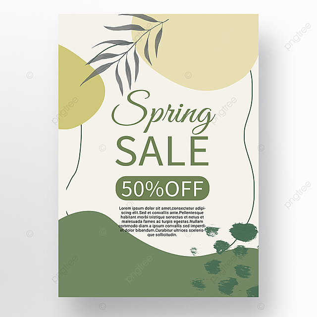 spring promotion simple mosaic promotion template