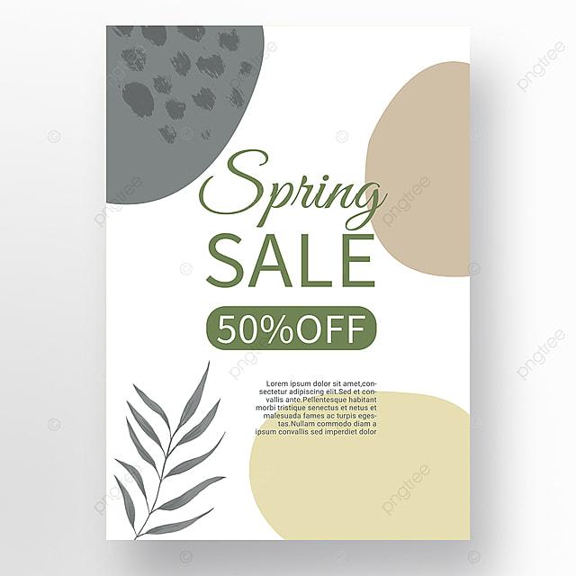 spring promotion simple shape color block mosaic promotion template