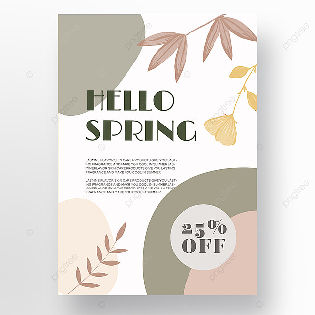 white simple shape color block splicing spring promotion promotion template