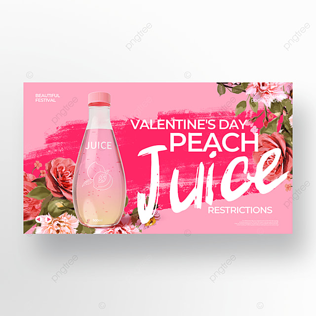 creative pink valentine food promotion template