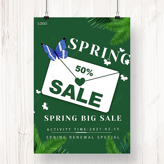 dark green spring new promotion poster