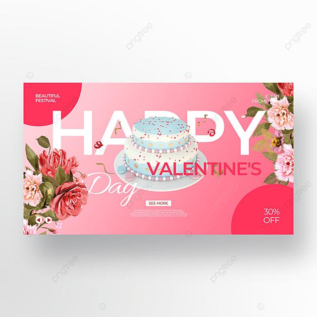 exquisite cake flower pink valentine food promotion