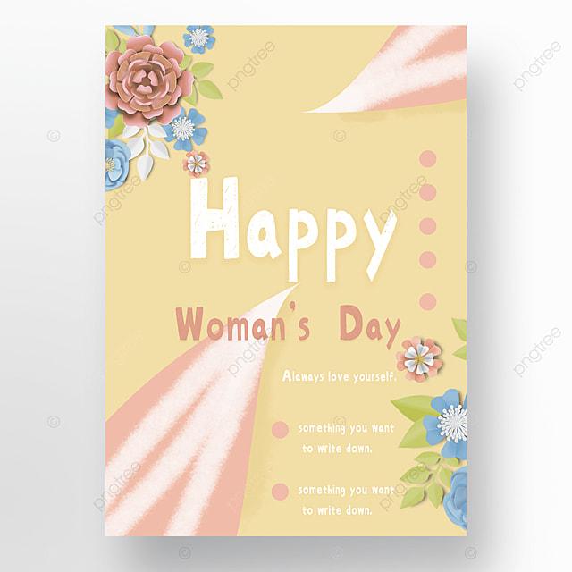 flower petals womens day poster