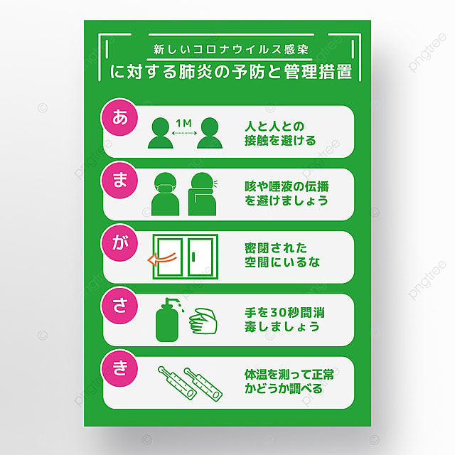 green creative prevention new crown simple geometric cartoon poster