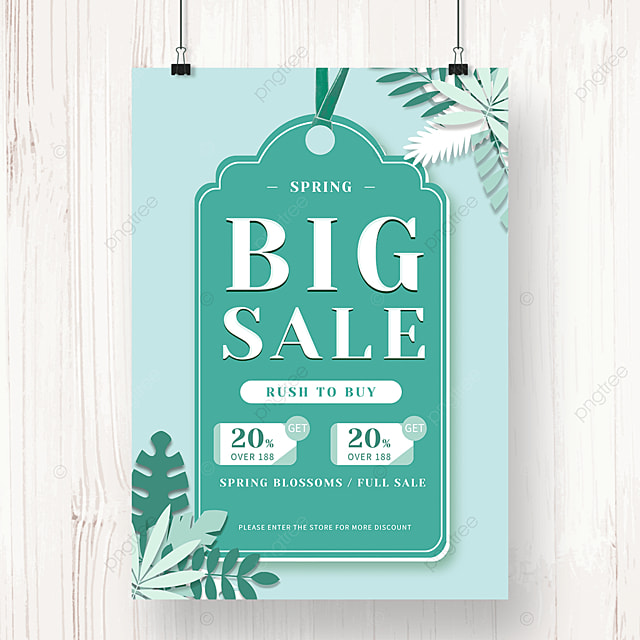 green spring promotion discount poster