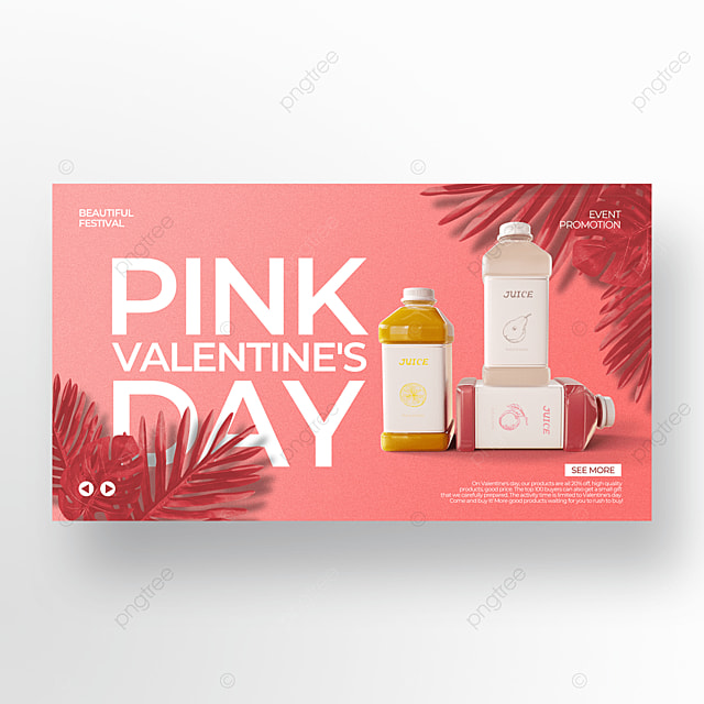 light background creative pink valentine food promotion