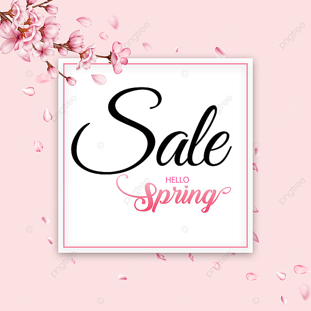 pink gradient spring promotion template