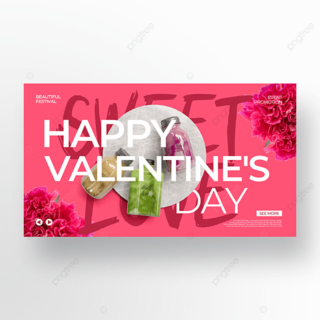 real creative pink valentines day food promotion