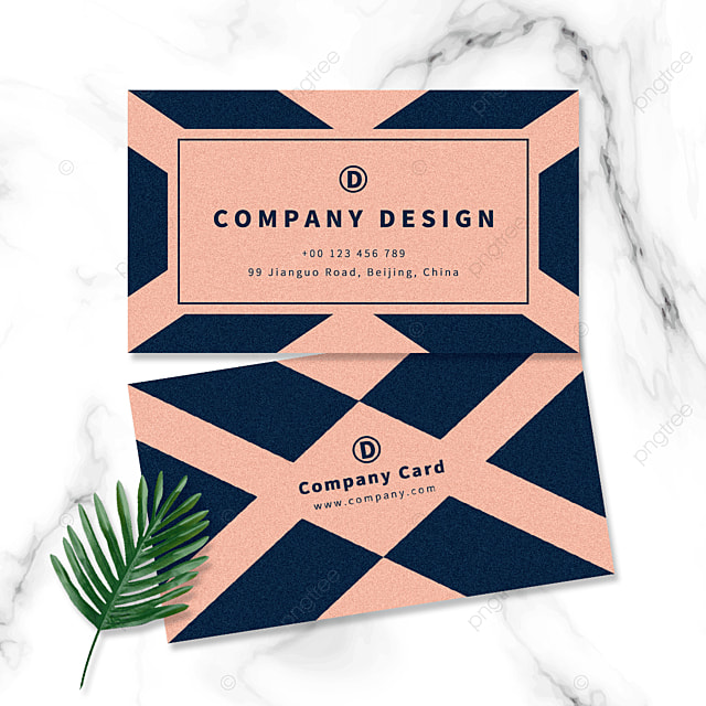 rhombus background geometric background rose gold business card