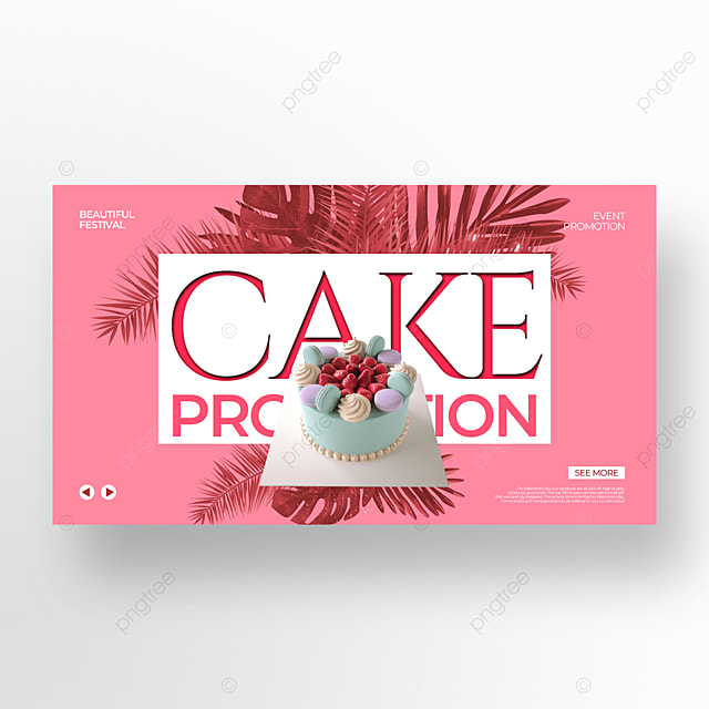 simple pink valentines day food promotion template