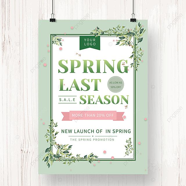 spring promotion leaf poster