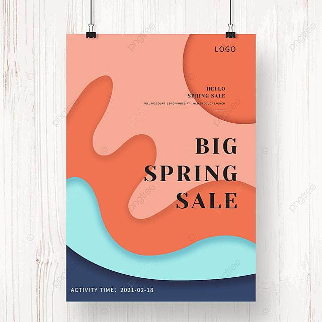 orange geometric irregular graphic promotion poster