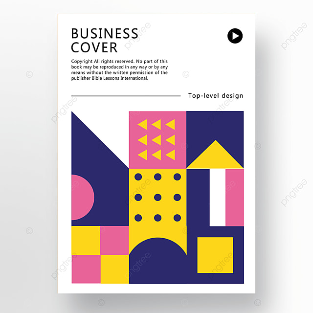 pink blue yellow modern texture geometric business plan cover poster