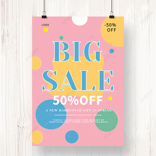 pink irregular shaped sale poster