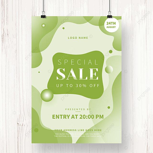 spring sale irregular shaped poster