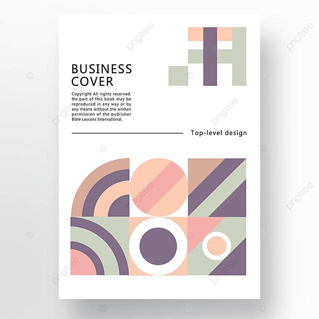 yellow green blue modern minimalist fashion geometric business plan cover poster