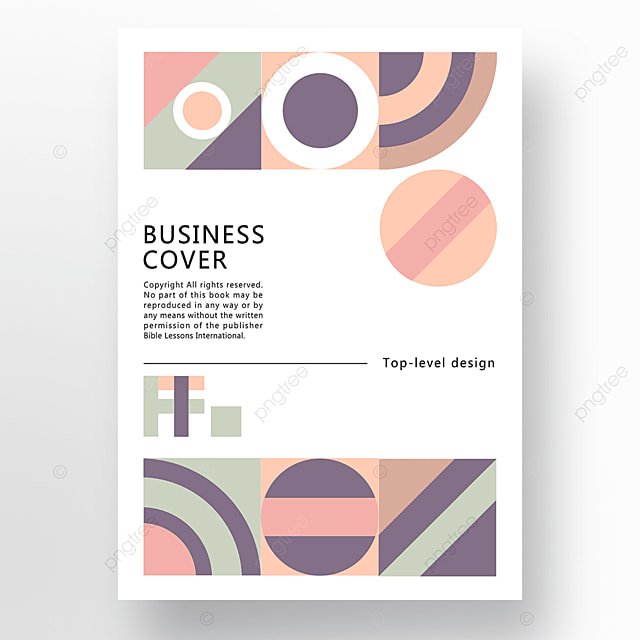 yellow green blue modern minimalist geometric business plan cover poster