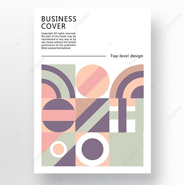 yellow green blue modern stylish geometric business plan cover poster