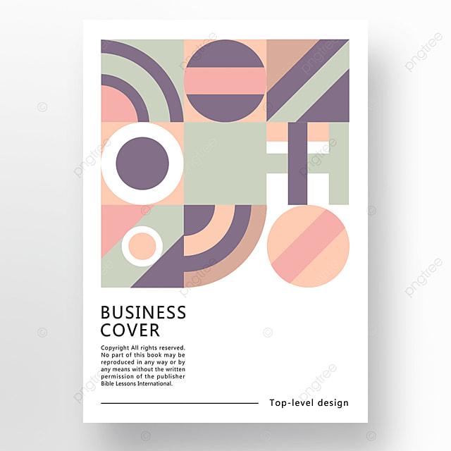 yellow green blue modern texture geometric business plan cover poster