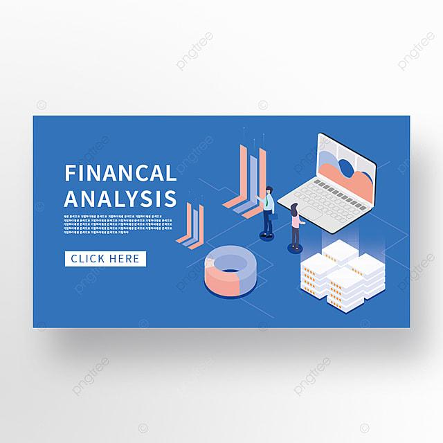 blue minimalist technology financial data analysis promotion