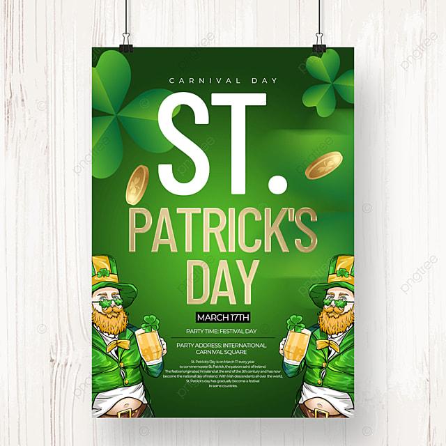 cartoon character creative saint patricks day beer poster