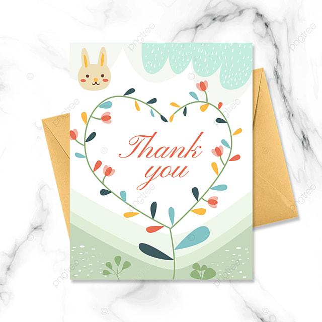 cartoon love thank you card greeting card