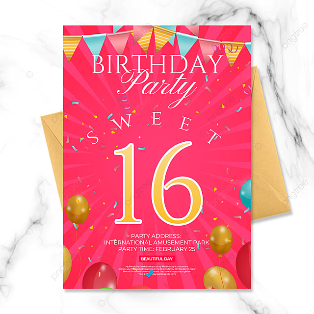 concise birthday party invitation